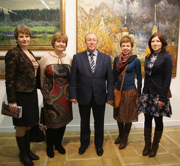 Делегация из Коломны родного города художника Михаила Абакумова