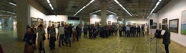 Выставка Михаила Абакумова панорама экспозиции Арт-Релиз.РФ
