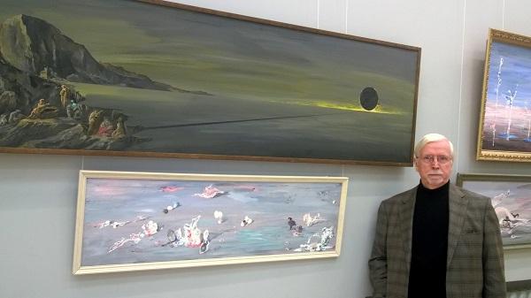 Орловский В.Ф. В.Ф.Орловский на выставке в ЦДА   для публикации интервью АРТ-Релиз.РФ