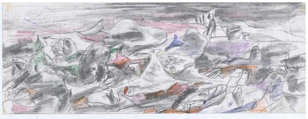 Орловский В.Ф. Эскиз к композиции артефакты 20 века б. к. для публикации интервью АРТ-Релиз.РФ