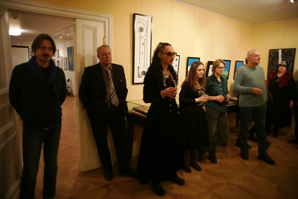 Финисаж выставки Евгении Кове-Петровой и Антона Кетова  в Музее Серебряного века январь, 2016 год