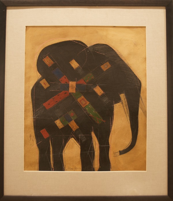 "Владимир Немухин  ""Супер-слон"" 1989 г."