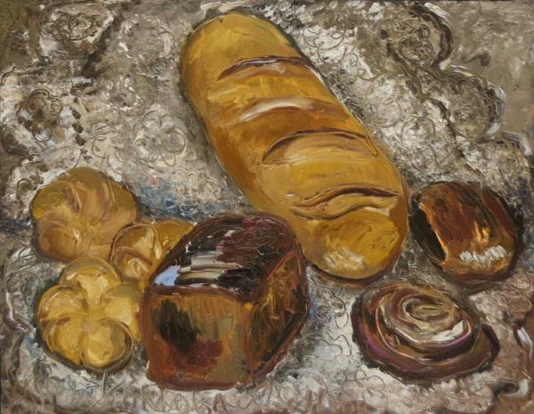 "Мария Комова  ""Хлеб"" 50х60 холст,масло 2012 г."