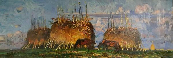 Картина художника  Михаила Абакумова из коллекции семьи Полинковских  (Петра Израилевича и Татьяны Александровны)