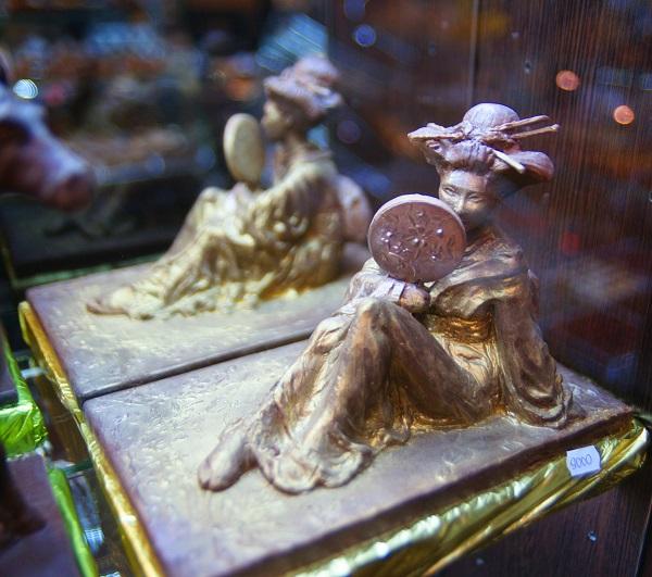 Музей шоколада скульптура из шоколада Япония Арт-Релиз.РФ