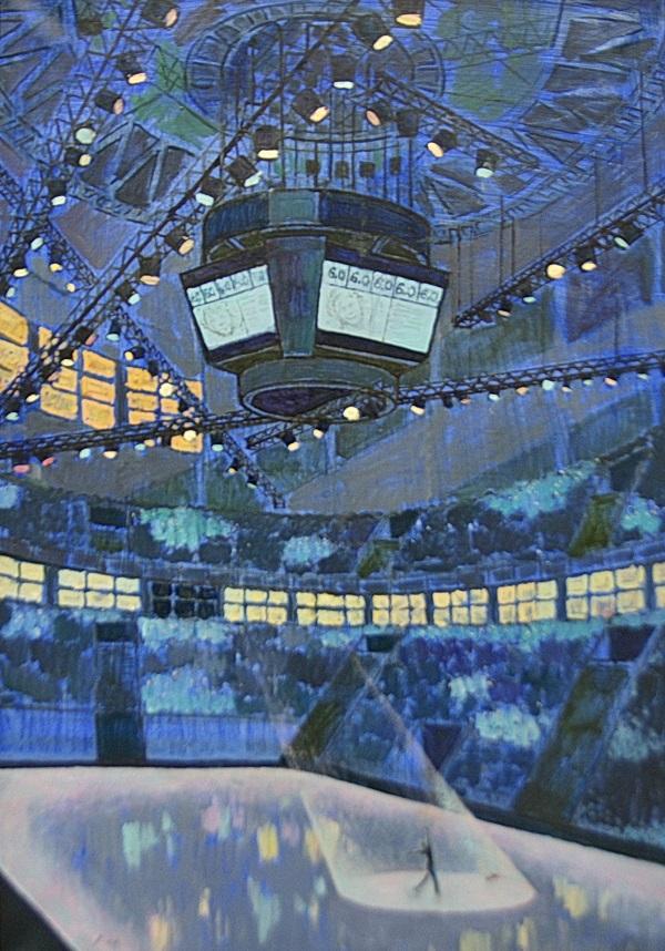 """Ксения Стекольщикова """"Чемпион"""" холст, масло 120х50 2012 г."""