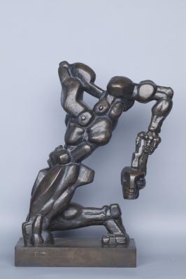 "Эрнст Неизвестный  ""Бертран де Борн""  авторский экзиз  бронза  44х125х26"