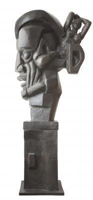 "Эрнст Неизвестный  ""Маска Гротеск""  1992 г. бронза  157,5х44,5х71"