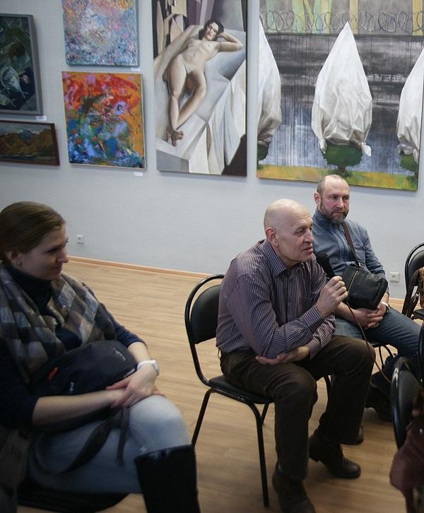 """Участники """"Круглого стола"""" в ВЗ МОСХ на Беговой, 7 Выставка """"Наследники"""""""