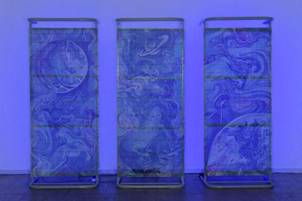 Марина Звягинцева Периферийная галактика 2014 г.  металл, монотипия