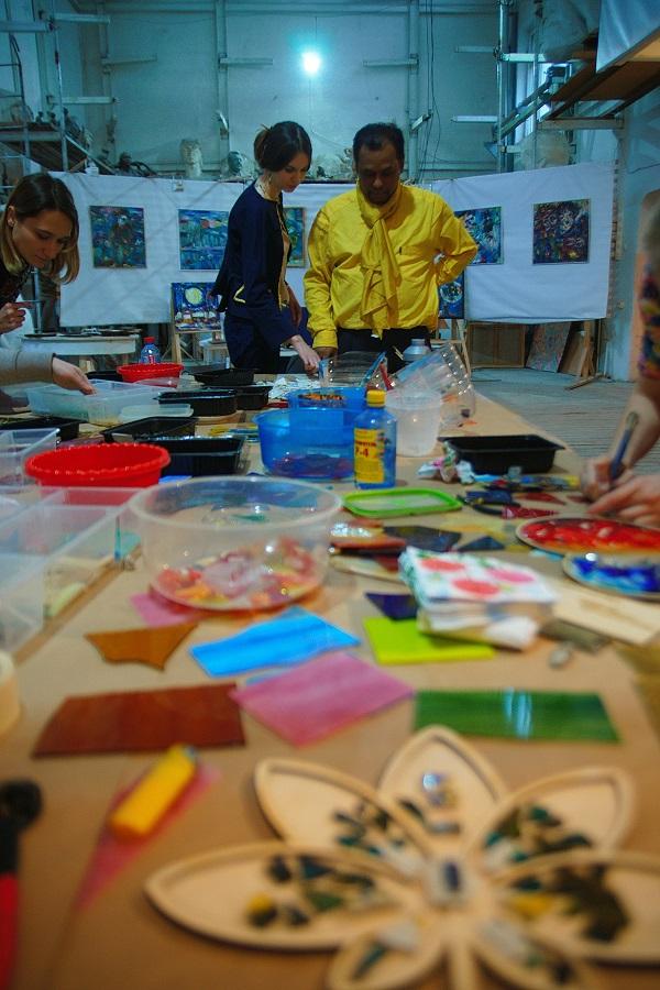 Мастер-класс  по мозаике  в Творческой Мастерской Рябичевых  6 марта 2016 года