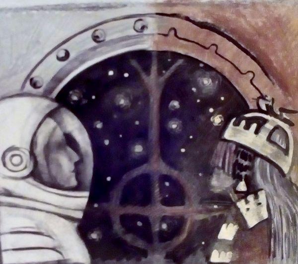 """О. Поротова (Норильск) """"Чтое есть космос для каждого из нас"""" 2016 г."""