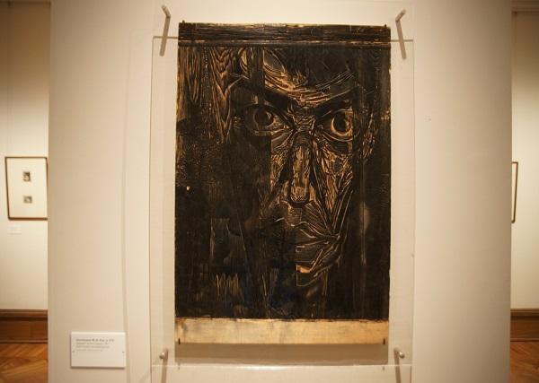 """Космынин Ю.И. род 1937 г.  """"Портрет поэта в дождь""""  доска продольная"""