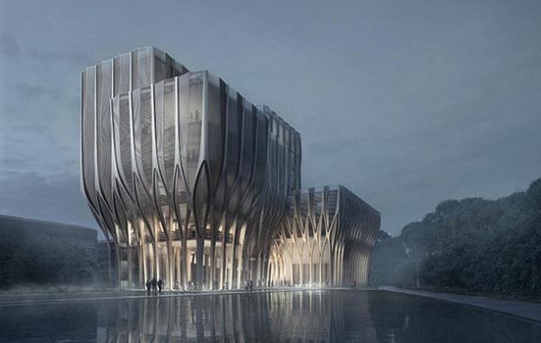 Архитектор Заха Хадид представила проект мемориального здания для камбоджийского института Sleuk RITH, в котором разместится большой архив документов, связанных с геноцидом в Юго-Восточной Азии – периодом, широко известным как камбоджийский холокост.