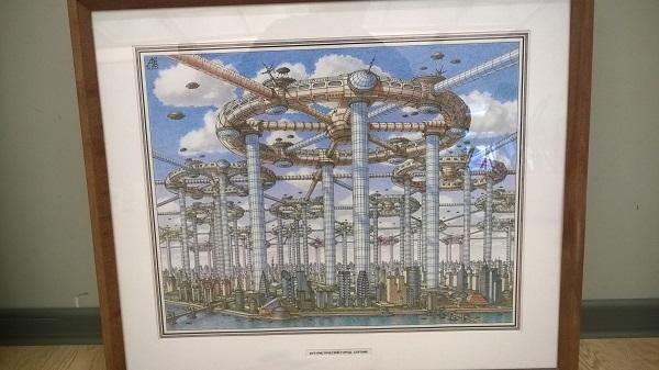 Работы Артура Владимировича Скрижали Вейс  выставка в процессе монтажа