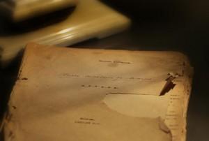 Это — один из ценнейших экспонатов музея. В булгаковской комнате хранится машинопись пьесы М.А. Булгакова «Мольер» с собственноручной правкой писателя и его автографом на первой странице рукописи. Поступила в 2010 г. от Тарасевичей.