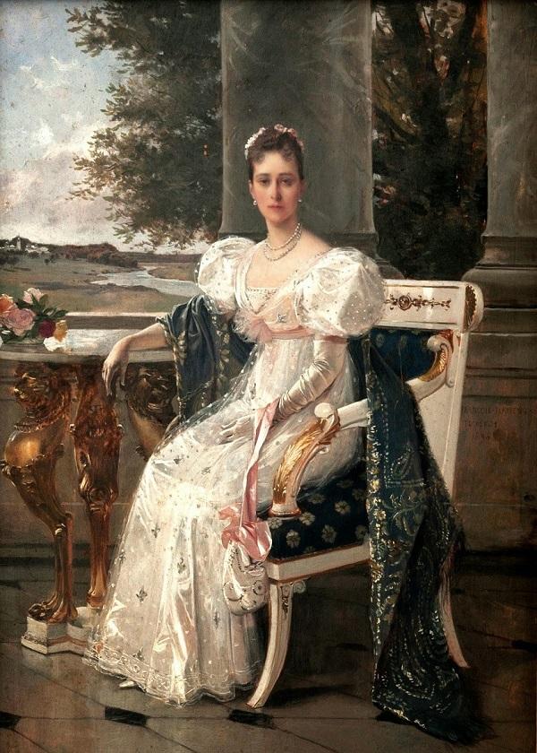 Художник  Франсуа Фламенг  Портрет Великой княгини Елизаветы Федоровны