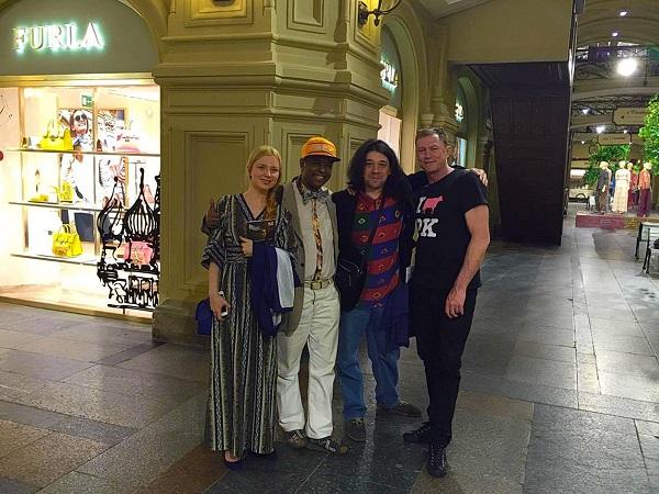 С новыми московскими друзьями