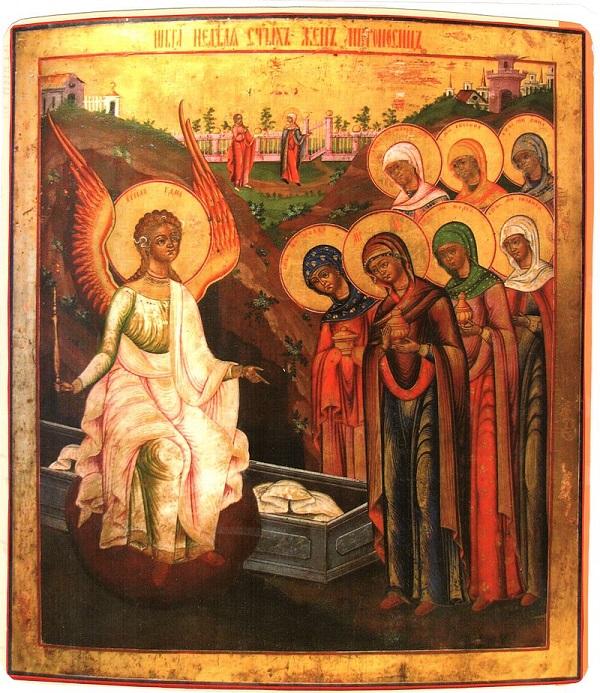 Семь жен-мироносиц (икона, н. XIX века)