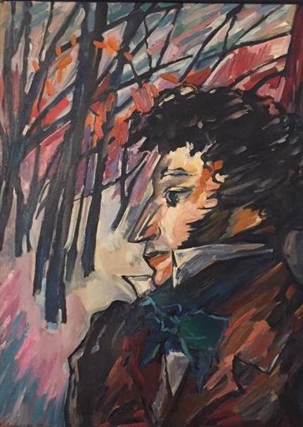 """Виктория Афонская """"Я пережил свои желания"""" холст, масло 1999 г.  75х55"""