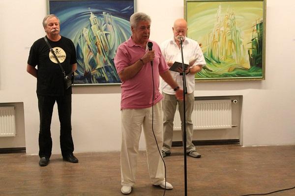 Евгений Окиншевич на открытии своей персональной выставки  в Российской Академии художеств 19 июля 2016 года