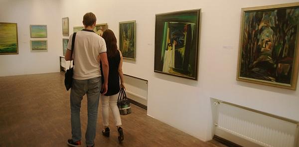 На выставке Евгения Окиншевича  в Российской Академии художеств