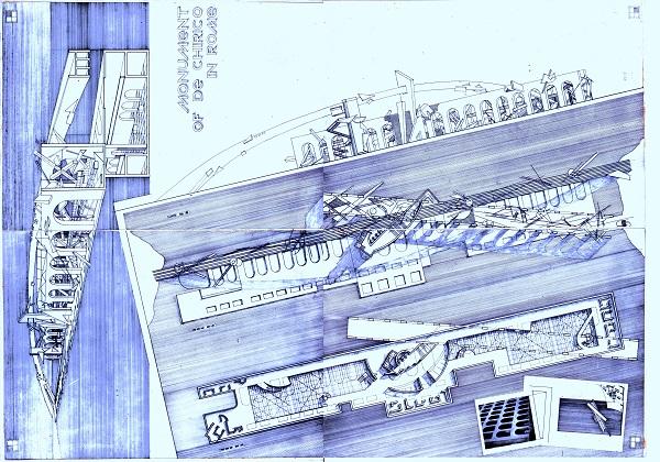 Максим Орловский  проект монумента -музея Де Кирико  перед Дворцом цивилизации в Риме