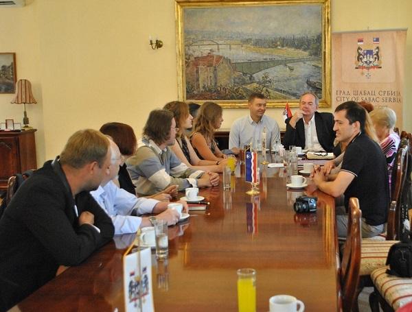 Торжественный прием Российских художников  у мэра города Шабац