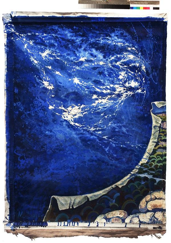 """Маргарита Сюрина  """"Край земли"""" 2010 г.  140х105 фрагмент полиптиха, левая часть"""