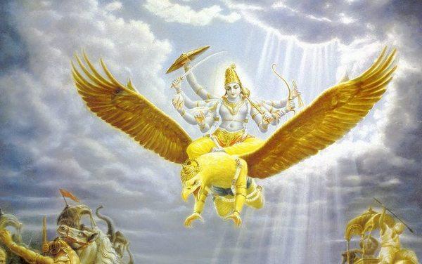 Гаруда добился от бога особого дара — отныне все змеи делались его пищей. Поэтому Гаруду стали именовать еще и Уругадом — «врагом гадов», «змееедом», «губителем змей» и т. п. В «Рамаяне» есть такой эпизод: когда над полем битвы Рамы с похитителем Ситы, демоном Раваной, появляется Гаруда, змеиный яд перестает действовать на Раму, а петля из сцепившихся змей, которой был пойман Рама, с треском лопается.