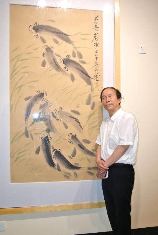 Художник Чжу Миндэ автор выставки  традиционной китайской живописи в Китайском Культурном центре
