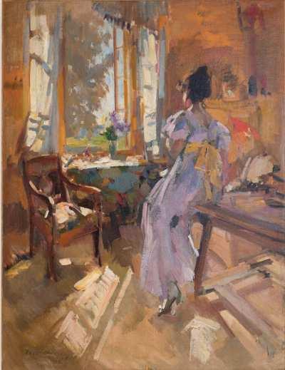 "Константин Коровин ""Девушка у окна"" холст, масло  86х66  АВА Gallery, Нью-Йорк"