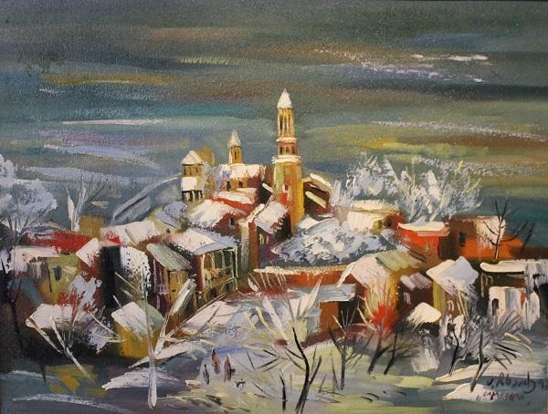 "Анзор Чхаидзе  ""Монастырь Святой Нины"" 1992 г.  холст, масло"