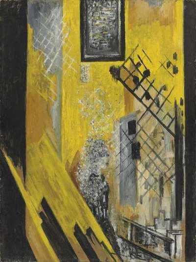 "Наталия Гончарова ""La Montee"" картон, масло  58,7х43,5 АВА Gallery, Нью-Йорк"
