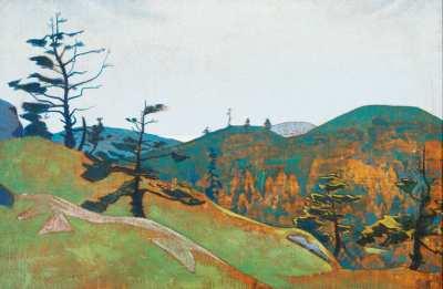 "Николай Рерих ""Надежда Монеган-Мэн"" 1922 г.  АВА Gallery, Нью-Йорк"