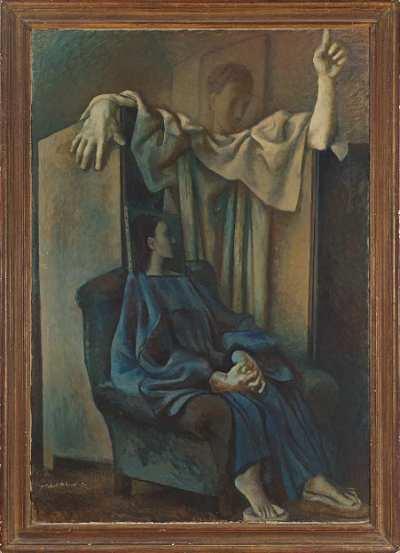 "Павел Челищев ""Благовещение"" 1931 г.  холст, масло  131,5х90 АВА Gallery, Нью-Йорк"