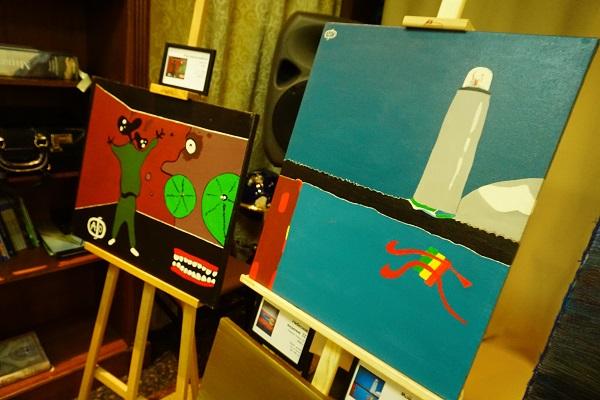 """Картины Алекса Дено на выставке """"Я рискую. Но настаиваю и подписываюсь"""" 13 октября 2016 года  """"Дом На Патриарших"""""""
