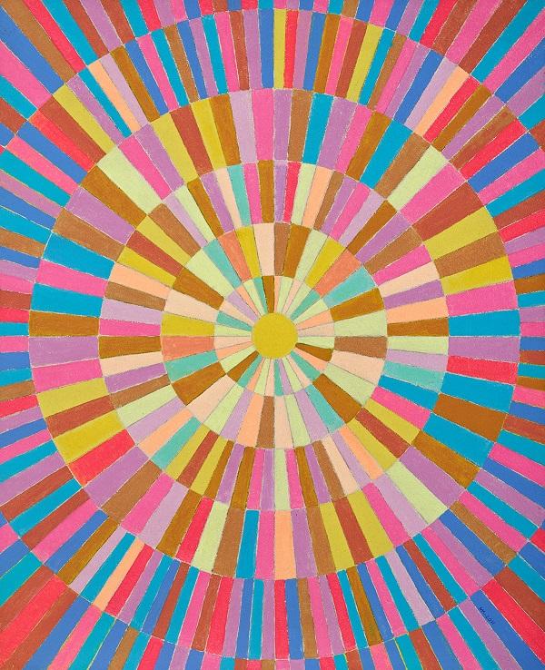 """Мухадин Кишев """"Солнце"""" 2011 г.  картон, масло 81х66"""