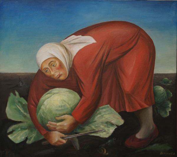 """Елена Борзых Россия """"Осень"""" холст, масло  2002 г."""