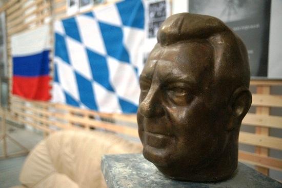 Авторы Д.Б Рябичев и А.Д. Рябичев Портрет Франца Йозефа Штрауса бронза