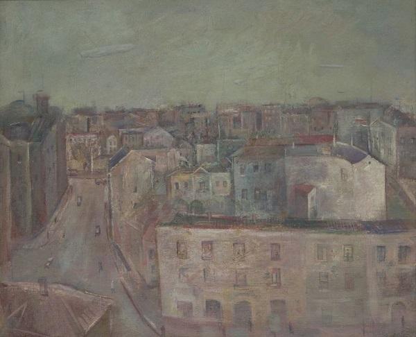 "Александр Лабас ""Вид на Мясницкую"" 1930 г.  холст, масло  49х60 частное собрание"