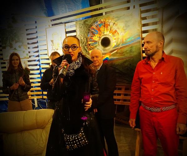 Евгения Кове-Петрова и Искандер Ильязов (ISKAN) участники выставки
