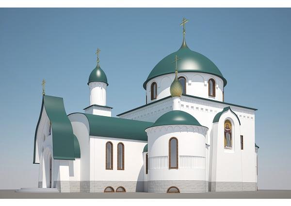 Храм в честь иконы Божией Матери Достойно есть. Западный фасад