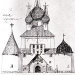 Храм -памятник на Куликовом поле.  Проект А.В. Щусева