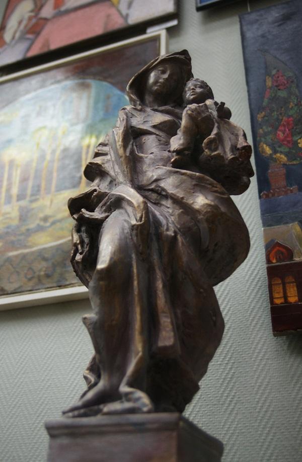 """Скульптор  Георгий Курдов """"Мария и Христос"""""""