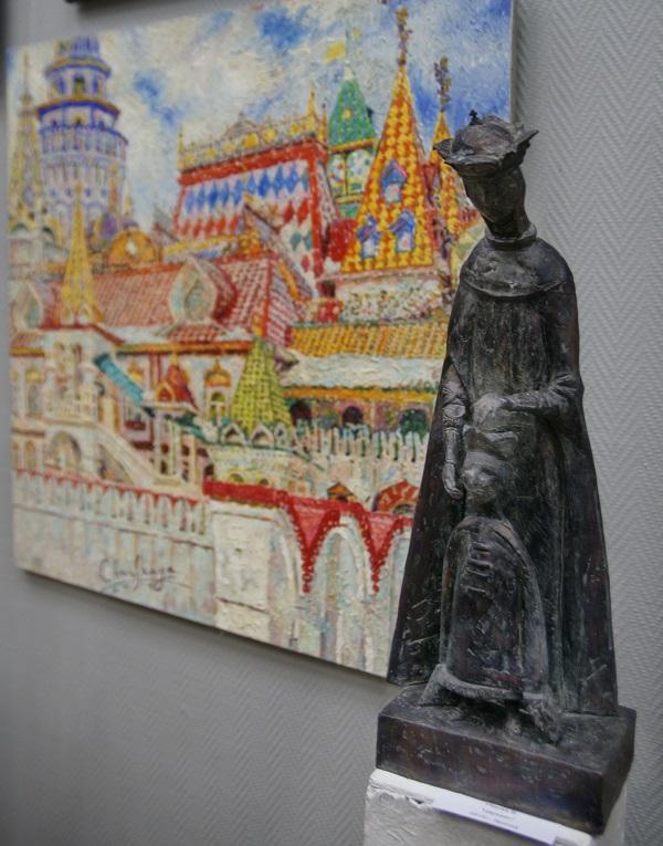 """Скульптор  В.Убасев """"Царевич""""  бронза  2015 г."""