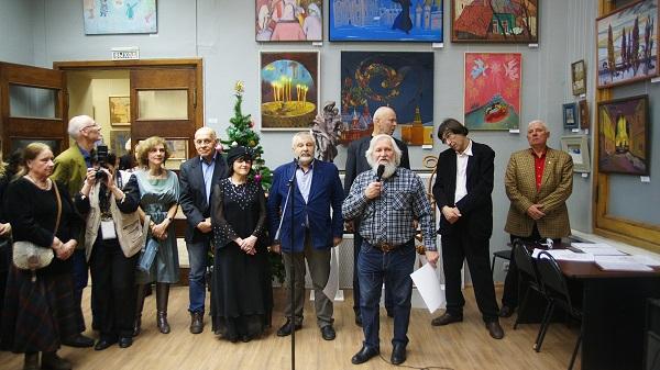 Рождественская выставка  МОСХ на Беговой, 9 Торжественное открытие 2016 год