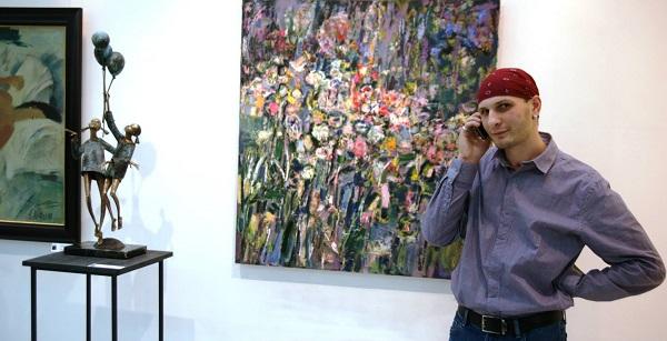 Записки о художниках Скульптор Петр Мавшов на своей выставке в галере ТНК, 2013 г. Арт-Релиз.РФ