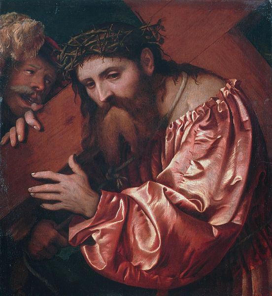 """Джироламо Романино """"Несение креста"""" 1582 г.  81х72 частная коллекция"""