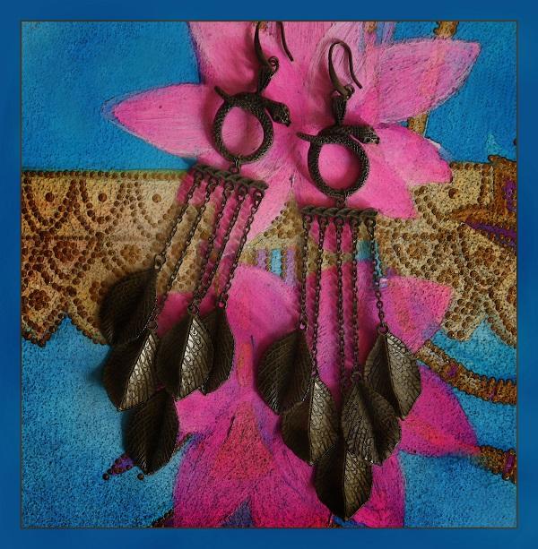 София Загряжская Серьги «Джозеф» со змейками и листьями Оммаж великолепному Джозефу из Голливуда